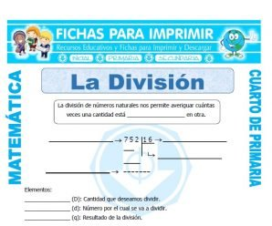 Que es la Division para Cuarto de Primaria