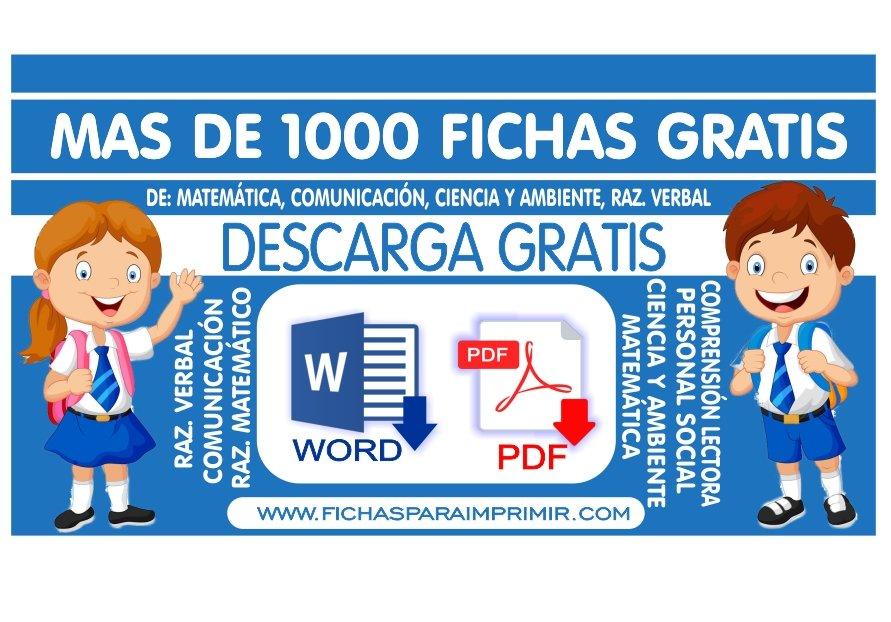 ▷ Fichas para Imprimir y Materiales Educativos para Primaria