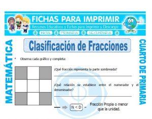 Clasificacion de Fracciones