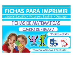 Problemas Matematicos para Cuarto Grado de Primaria | 50 FICHAS