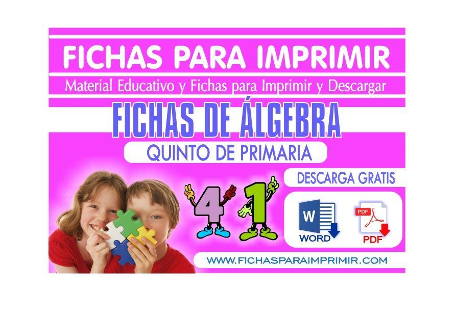 problemas de algebra para niños de quinto de primaria