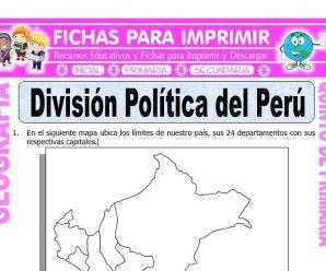 División Política del Perú para Quinto de Primaria