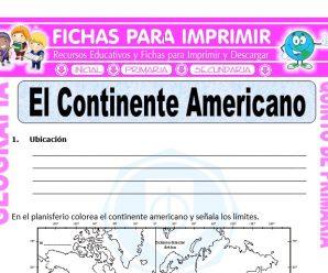 El Continente Americano para Quinto de Primaria