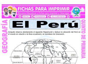 Ficha de El Perú Ubicación para Quinto de Primaria