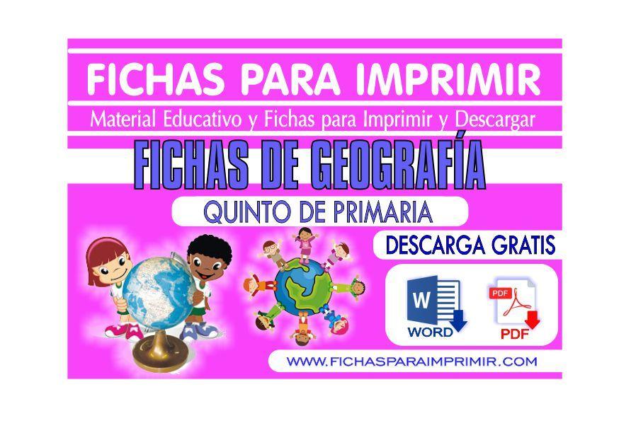 Fichas de Geografía para niños de primaria