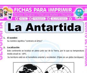 La Antártida para Quinto de Primaria