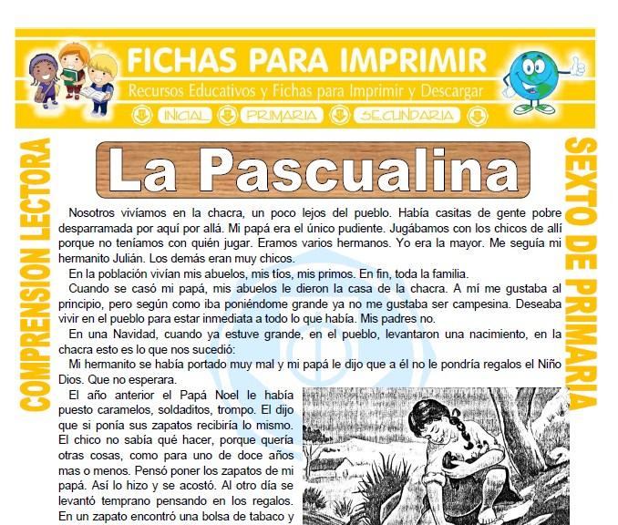 Ficha de La Pascualina para Sexto de Primaria