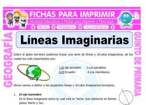 Ficha de Lineas Imaginarias para Quinto de Primaria