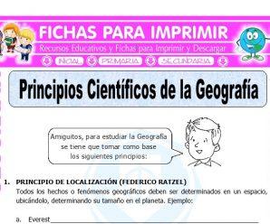 Principios Cientificos de la Geografia para Quinto de Primaria