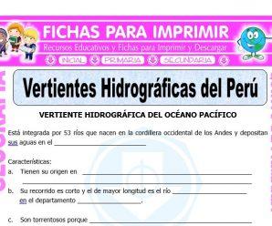 Vertientes Hidrográficas del Perú para Quinto de Primaria