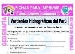 Modelo de la Ficha de Vertientes Hidrográficas del Perú para Quinto de Primaria