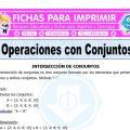 Operaciones con Conjuntos para Quinto de Primaria