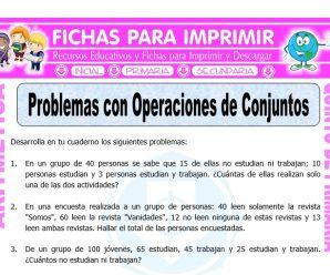 Problemas con Operaciones de Conjuntos para Quinto de Primaria