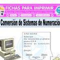 Conversion de Sistemas de Numeracion para Quinto de Primaria