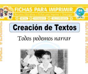 Creación de Textos para Sexto de Primaria