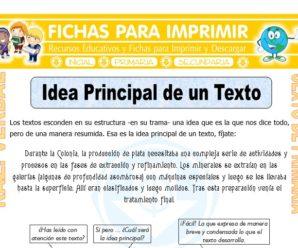 Idea Principal de un Texto para Sexto de Primaria