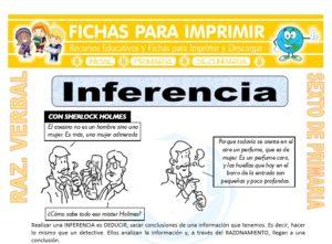 Ficha de Inferencia para Sexto de Primaria