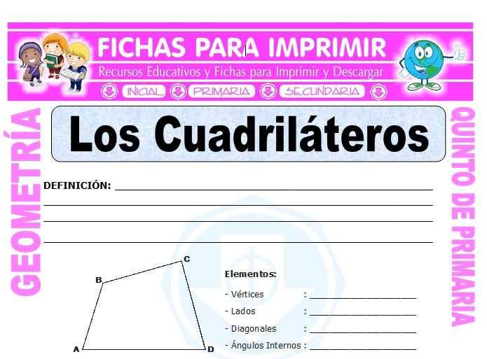 Ficha de Los Cuadriláteros para Quinto de Primaria