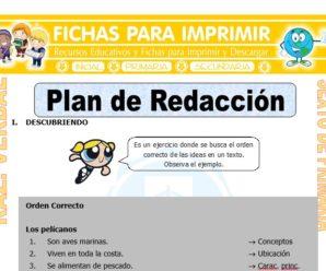 Plan de Redacción para Sexto de Primaria