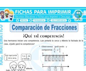 Comparación de Fracciones para Cuarto de Primaria