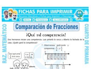 Ficha de Fracción de un Número para Cuarto de Primaria