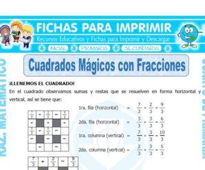 Cuadrados Mágicos con Fracciones para Cuarto de Primaria