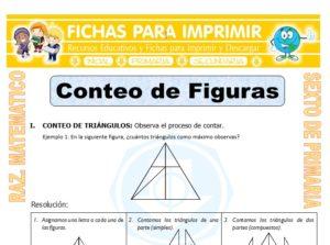 Ficha de Ejercicios de Conteo de Figuras para Sexto de Primaria
