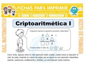 Ficha de Ejercicios de Criptoarimética para Sexto de Primaria