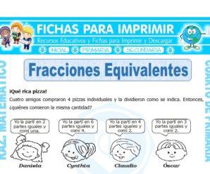 Ejercicios de Fracciones Equivalentes para Cuarto de Primaria