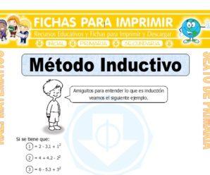Ejercicios de Método Inductivo para Sexto de Primaria