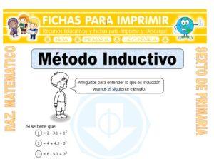 Ficha de Ejercicios de Método Inductivo para Sexto de Primaria