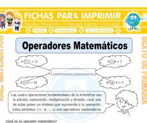Ejercicios de Operadores Matemáticos para Sexto de Primaria