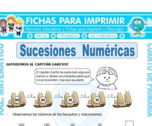 Ejercicios de Sucesiones Numéricas para Cuarto de Primaria