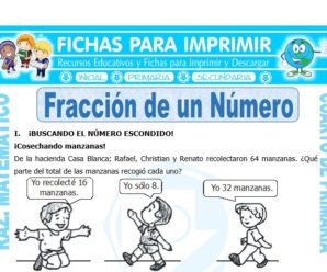 Fracción de un Número para Cuarto de Primaria