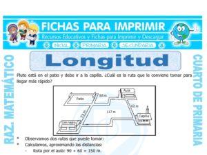 Ficha de Longitud para Cuarto de Primaria