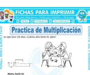 Practica de Multiplicación para Cuarto de Primaria