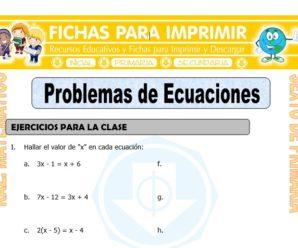 Problemas de Ecuaciones para Sexto de Primaria
