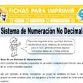 Sistema de Numeración No Decimal para Sexto de Primaria