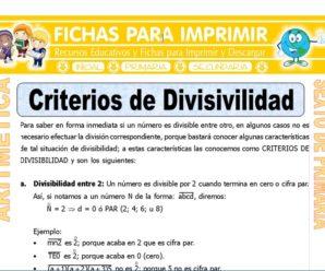 Criterios de Divisibilidad para Sexto de Primaria