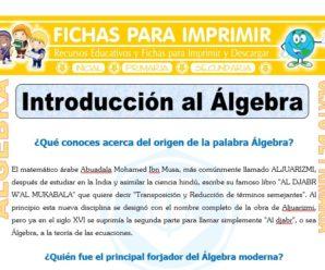 Introducción al Álgebra para Sexto de Primaria