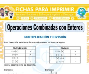 Operaciones Combinadas con Enteros para Sexto de Primaria