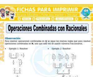 Operaciones Combinadas con Racionales para Sexto de Primaria