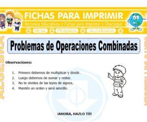 Problemas de Operaciones Combinadas para Sexto de Primaria